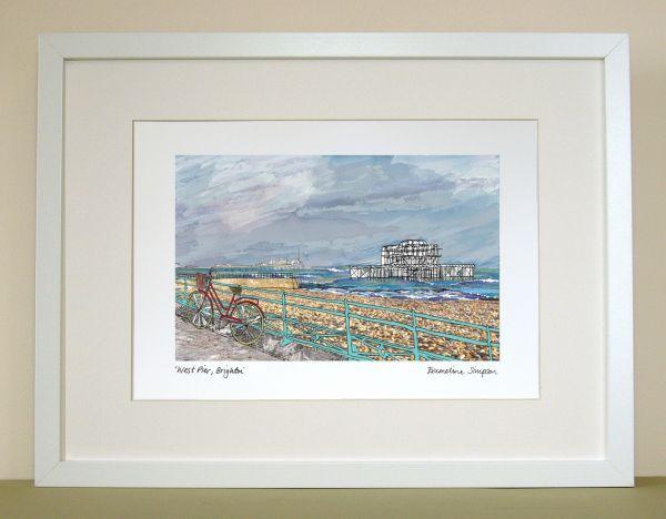 Brighton West Pier A4 Print