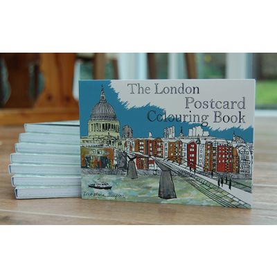 London Postcard Colouring Book