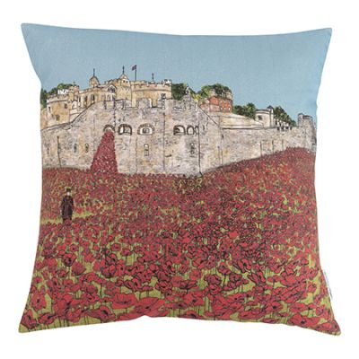 Tower of London Poppies Cushion Cover
