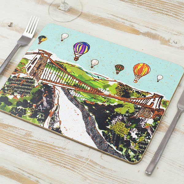 Balloons over the Bridge Bristol Placemat