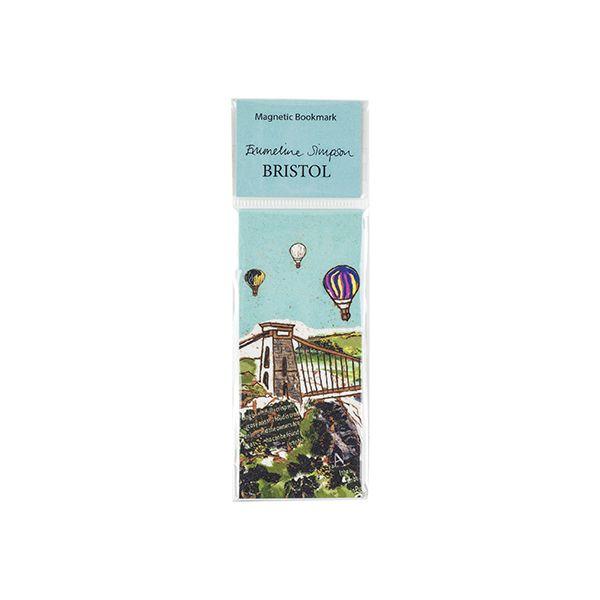 Balloons over the Bridge Magnetic Bookmark