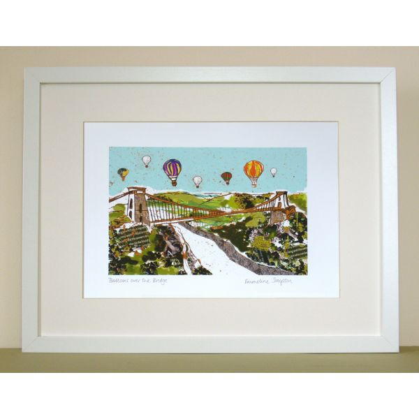 Balloons over the Bridge Personalised Bristol Print