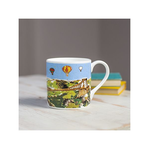 Balloons over the Bridge Bristol Bone China Mug