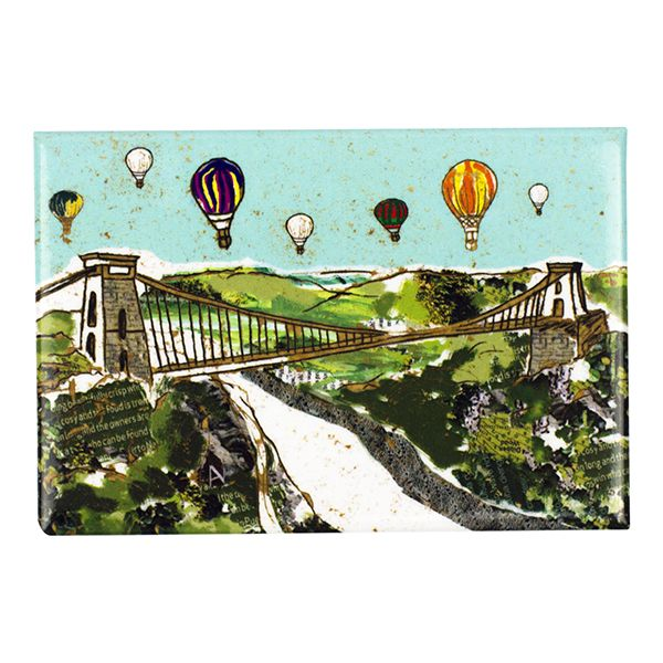Balloons over the Bridge Bristol Fridge Magnet