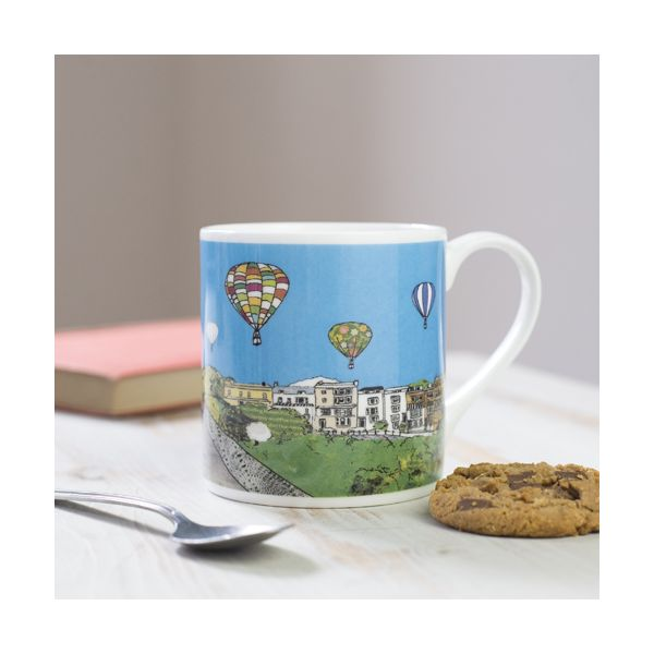 Balloons over the Toll Bridge Bristol Bone China Mug