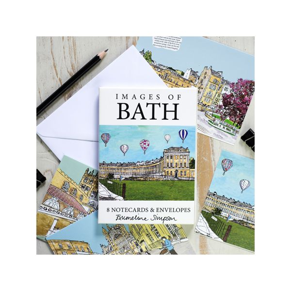 Images of Bath Set of 8 Notecards