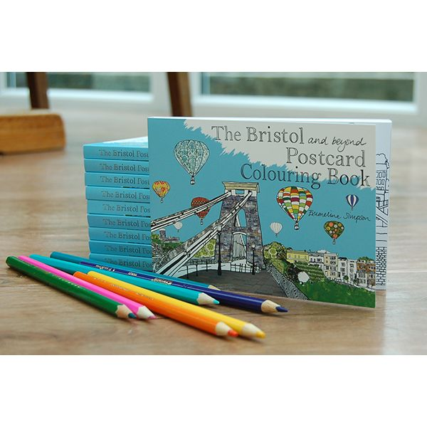 Bristol Postcard Colouring Book