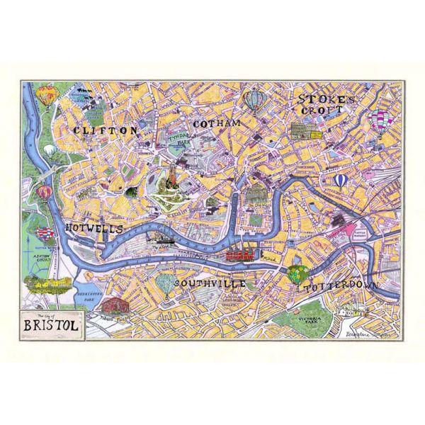 Bristol Map A3 Print