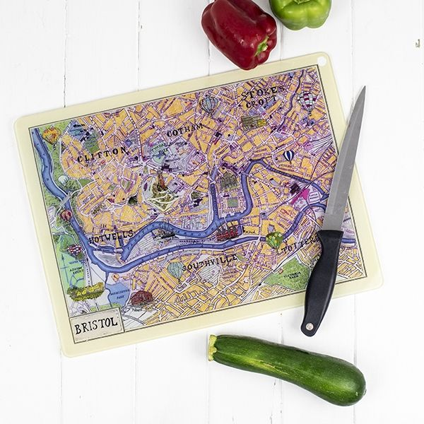 Bristol Map Glass Worktop Saver