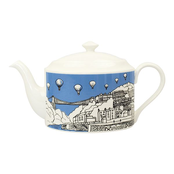 Clifton Balloons Bristol Bone China Teapot