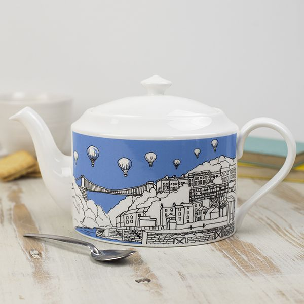 Clifton Balloons Bristol Bone China Teapot
