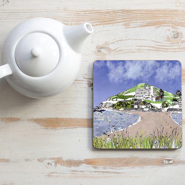 Burgh Island Devon Teapot Stand Square