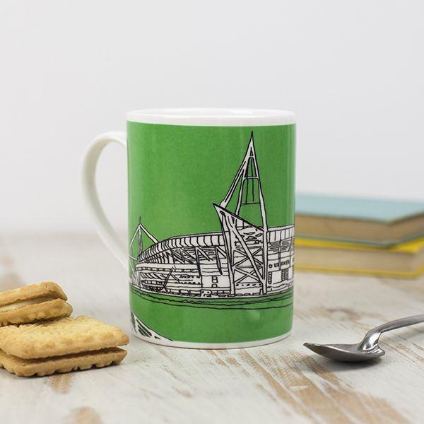 Cardiff Principality Stadium Mug, Green