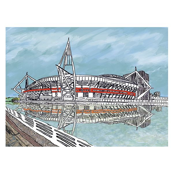 Cardiff Principality Stadium Greetings Card