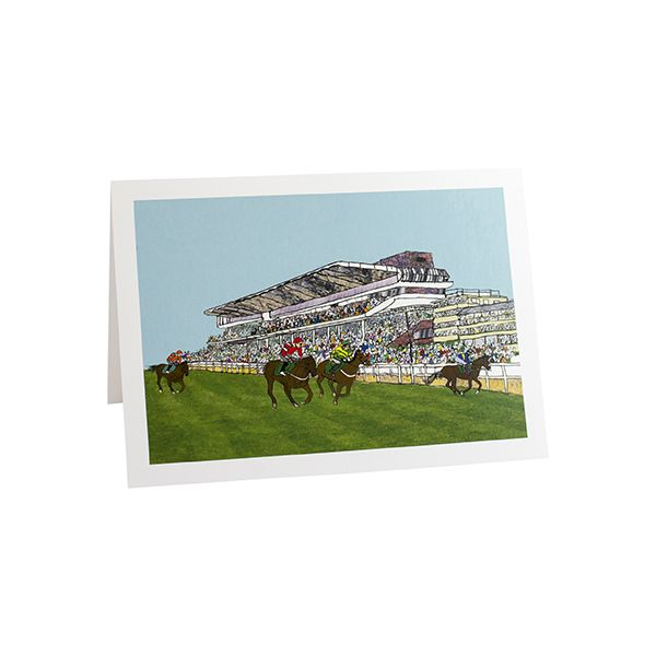 Cheltenham Racecourse Greetings Card