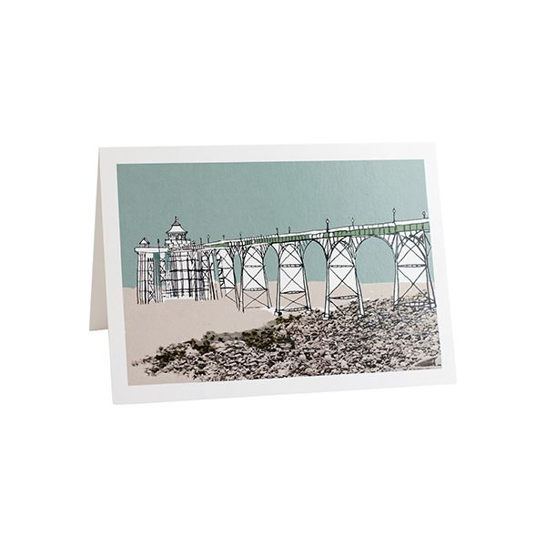 Clevedon Pier Bristol Greetings Card