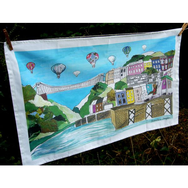 Clifton Balloons Bristol Tea Towel full colour