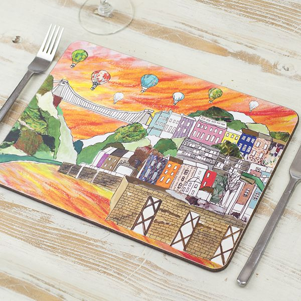 Clifton Balloons Sunset Placemat
