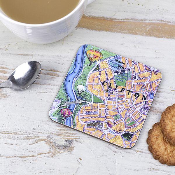 Bristol Map Coaster Clifton