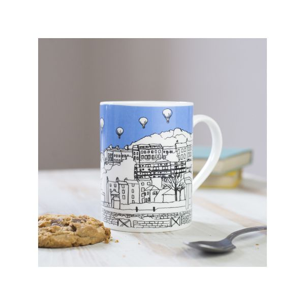 Clifton Balloons Blue Bone China Mug