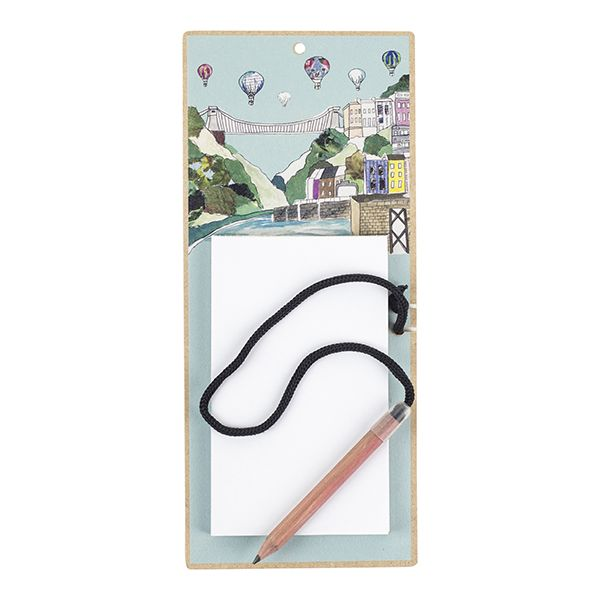 Clifton Balloons Bristol Magnetic fridge Notepad