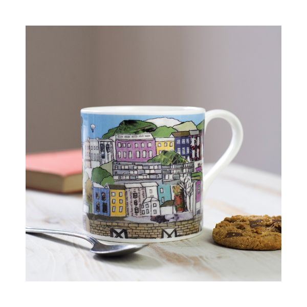 Clifton Balloons Bristol Colour Bone China Mug