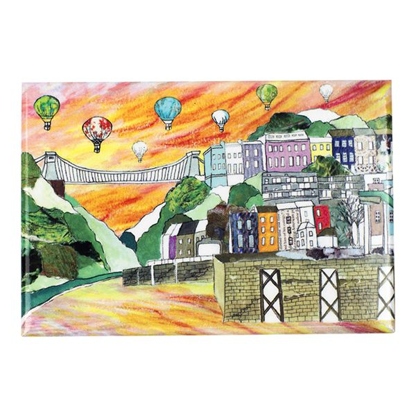 Clifton Balloons Sunset Bristol Fridge Magnet