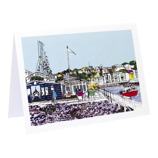 Dockyard Cafe Bristol Greetings Card