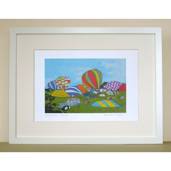 Early Balloon Ascent Bristol Print