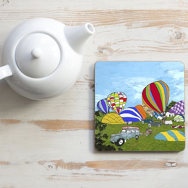 Early Balloon Ascent Teapot Stand Square