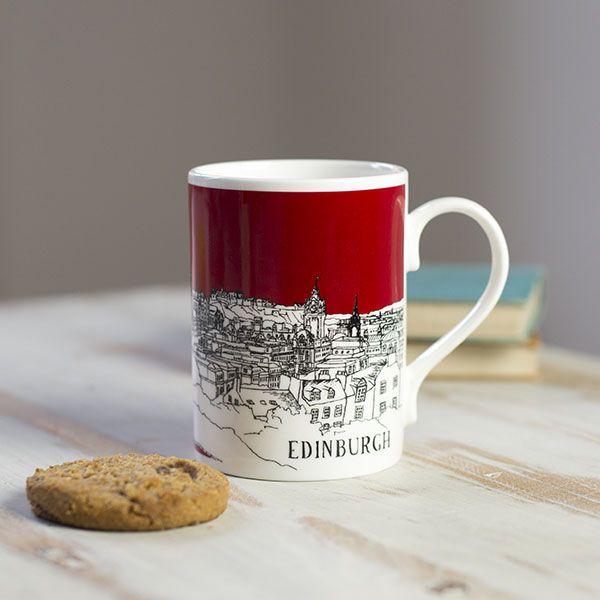 Edinburgh Mug Red
