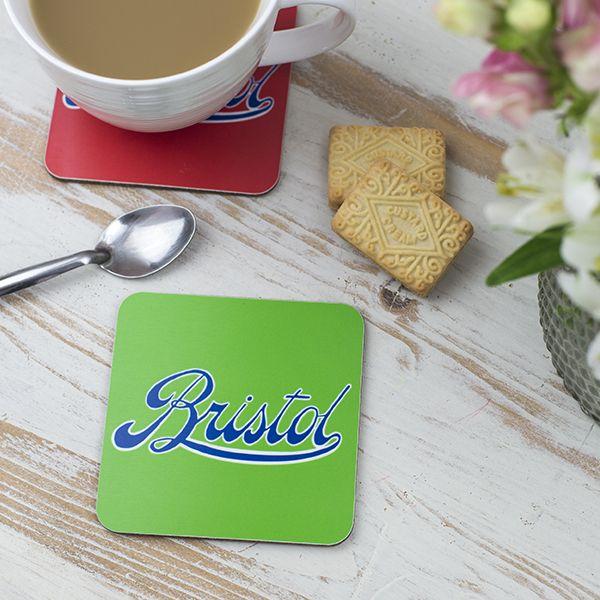 Bristol Logo Green Coaster