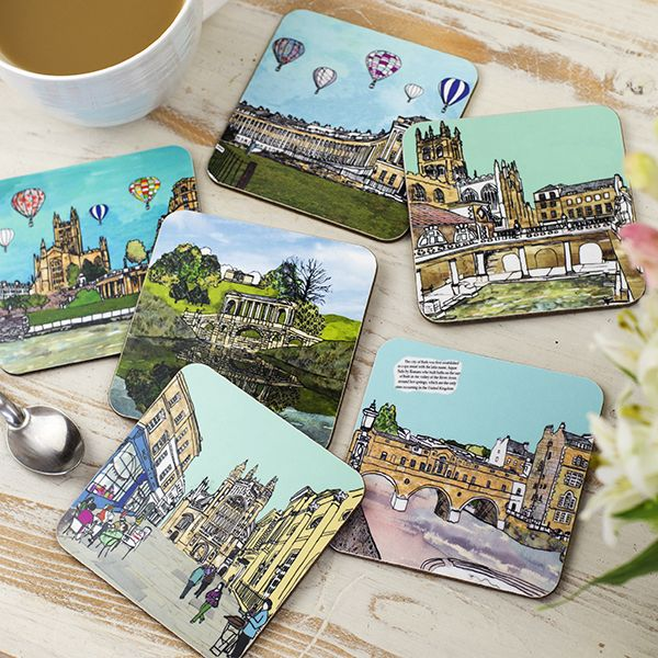 Set of Six Bath Coasters