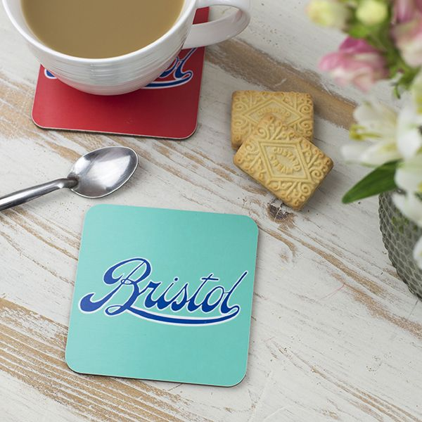 Bristol Logo Turquoise Coaster