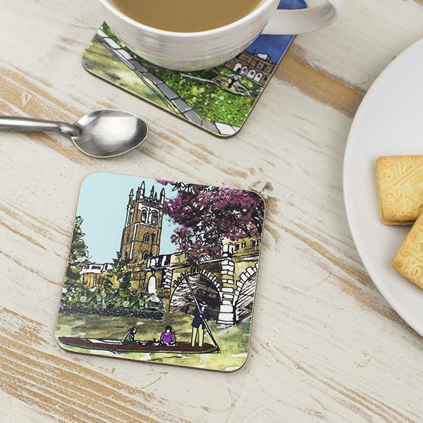Magdalen Bridge Oxford Coaster