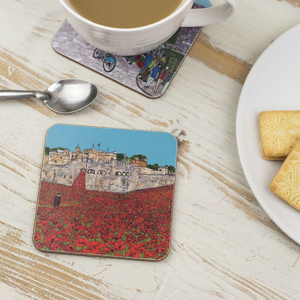Tower of London Poppies Coaster