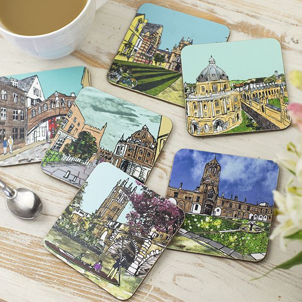 Set of Six Oxford Coasters