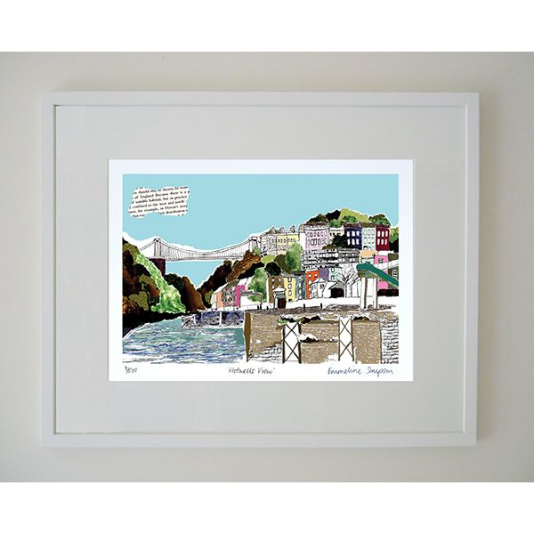 Hotwells View Limited Edition Bristol Print