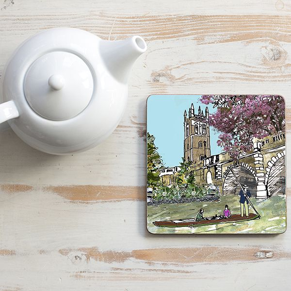 Magdalen Bridge Oxford Teapot Stand Square