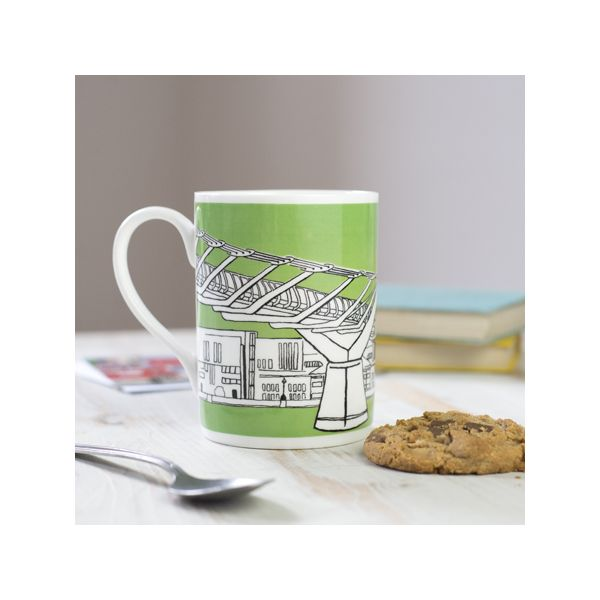 Millennium Bridge London Mug Green