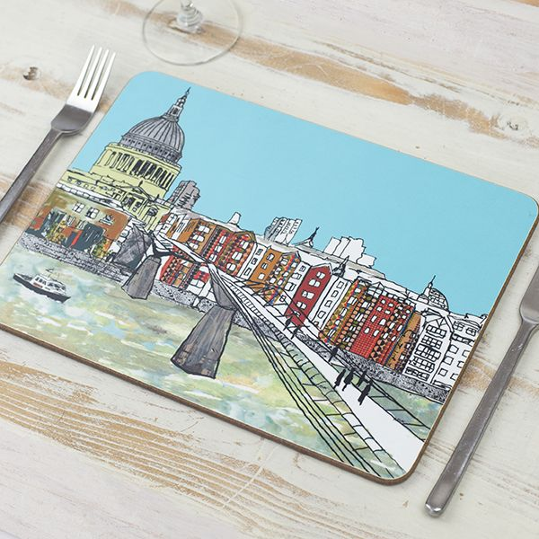 Millennium Bridge London Placemat