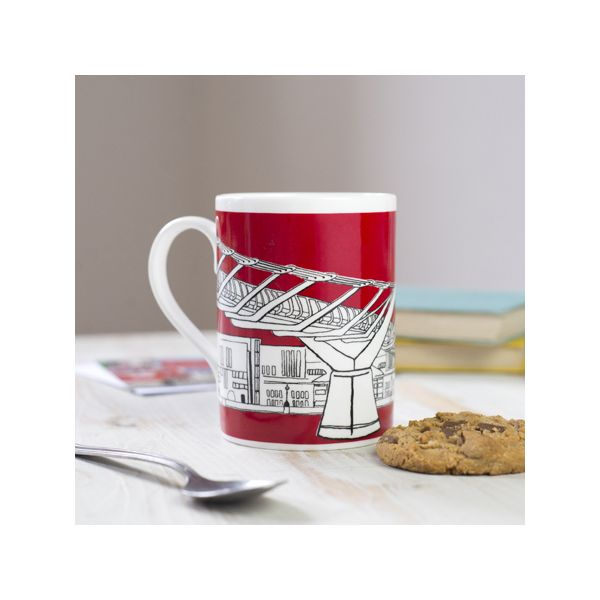 Millennium Bridge London Mug Red