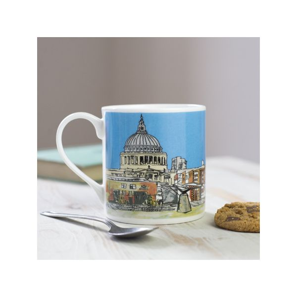 Millennium Bridge London Bone China Mug