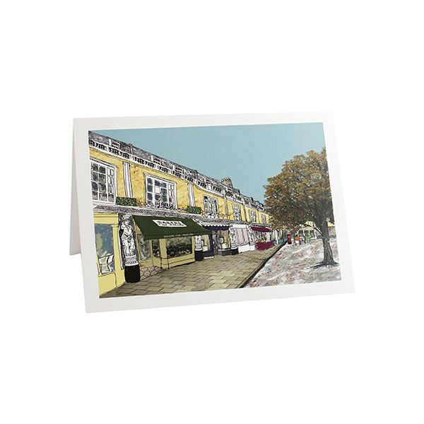 Montpellier Walk Cheltenham Greetings Card