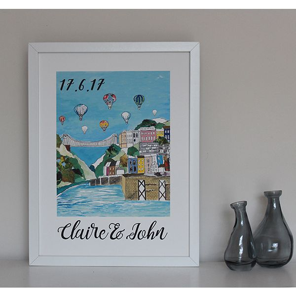 Clifton Balloons Large Personalised Bristol Print