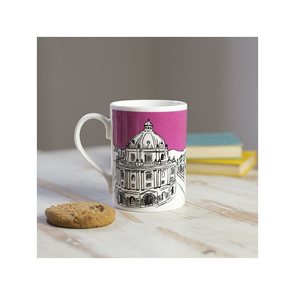 Oxford Skyline Bone China Mug Pink