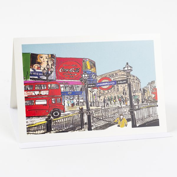 Piccadilly Circus Greetings Card