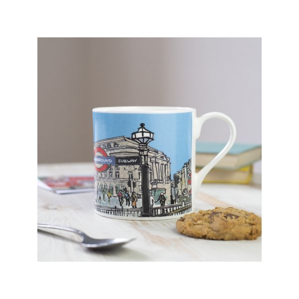 Piccadilly Circus London Bone China Mug