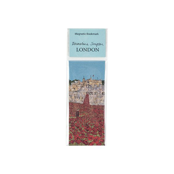 Tower of London Poppies Magnetic Bookmark