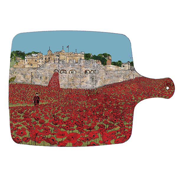 Poppies at the Tower of London Chopping board